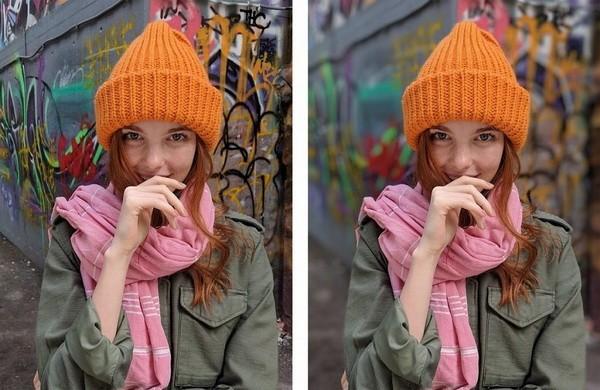 Сравнение фото до и после