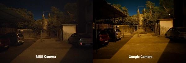 Демонстрация разницы фото в ночном режиме