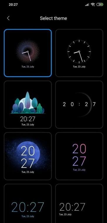 Дизайны часов для AOD