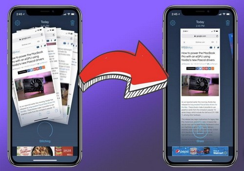 Как сделать длинный скриншот экрана на смартфоне Xiaomi