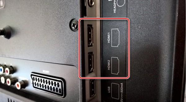HDMI на корпусе телевизора