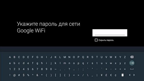 Пароль от Wi-Fi сети